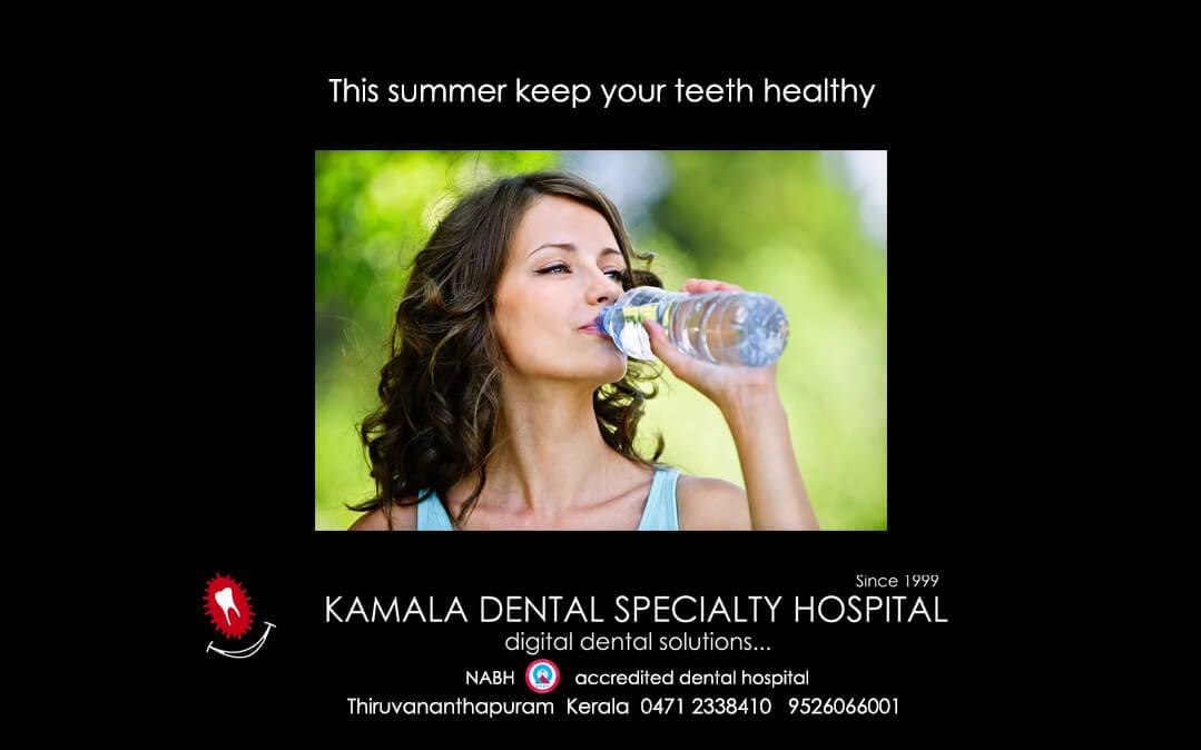 This summer keep your teeth healthy
